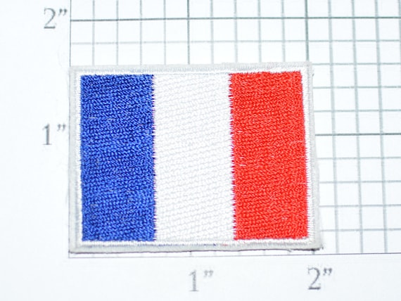 France Drapeau Iron On Vintage Brode Applique Patch Diy