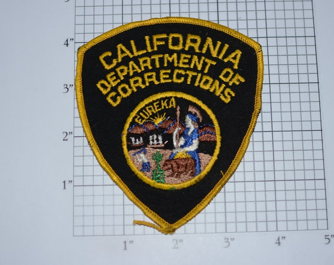 California Department of Corrections Sew-On Vintage Embroidered Clothing Patch Officer Uniform Shoulder Jacket Vest Emblem Collectible