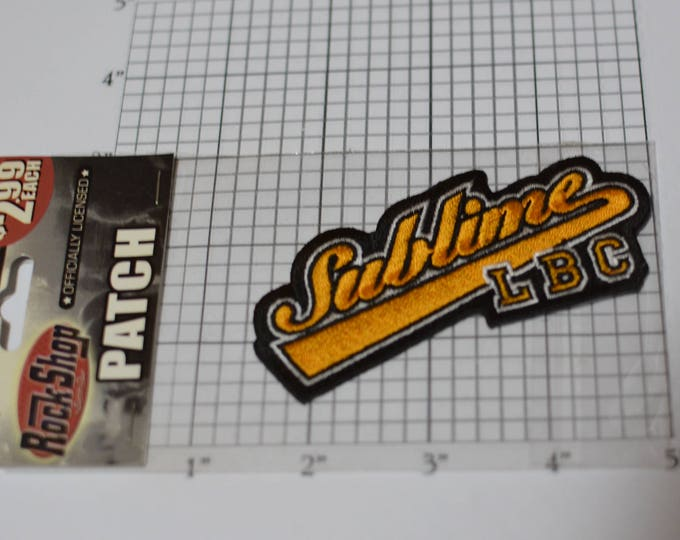 SUBLIME LBC New-in-Package Iron-on Authentic Licensed Merchandise Embroidered Clothing Patch Ska Band Music Souvenir Collectible Gift e32f