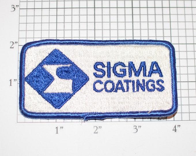 Sigma Coatings (a PPG Company) RARE Iron-On Vintage Embroidered Clothing Patch for Employee Uniform Shirt Jacket Emblem Logo Workshirt