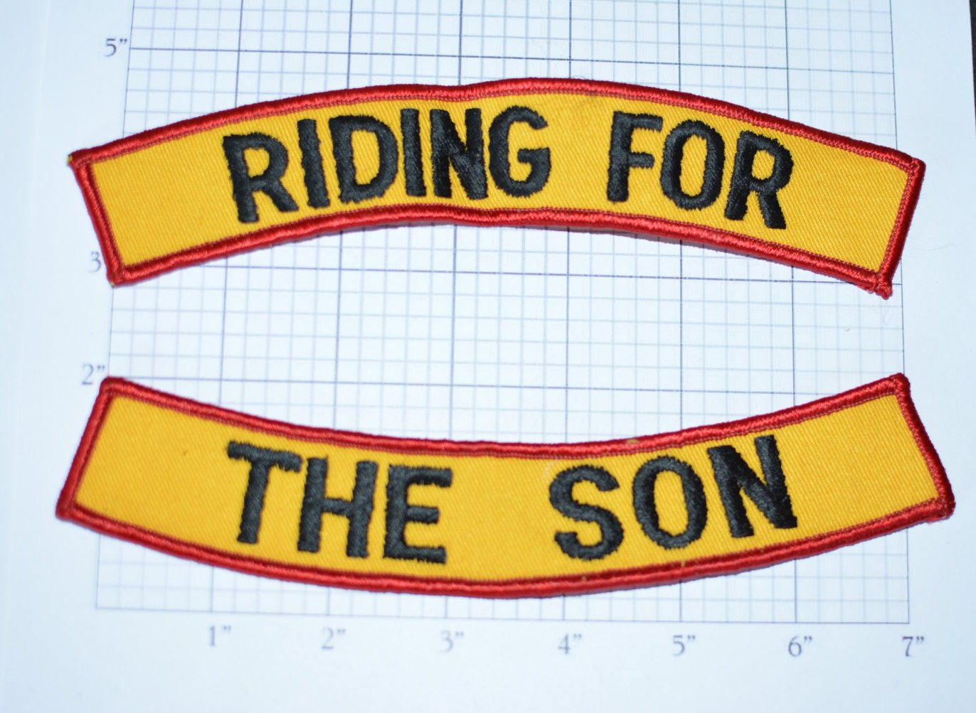 RIBBON I RIDE FOR JESUS PATCH