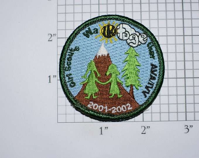 Girl Scout Walk Together  2001-2002 AVA-IVV American Volkssport Association Sew-On Embroidered Clothing Patch Outing Souvenir Keepsake Crest