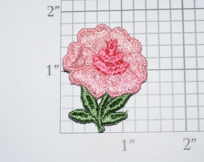 Pink Flower Vintage Sew-on Embroidered Clothing Patch Applique for Craft Project Jacket Shirt Dress Hat Girl Clothes Hole Repair Cover Up