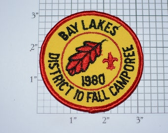 Bay Lakes District 10 Fall Camporee 1980 Sew-On Vintage Embroidered Clothing Patch Badge Logo Scout Collectible Keepsake Wisconsin