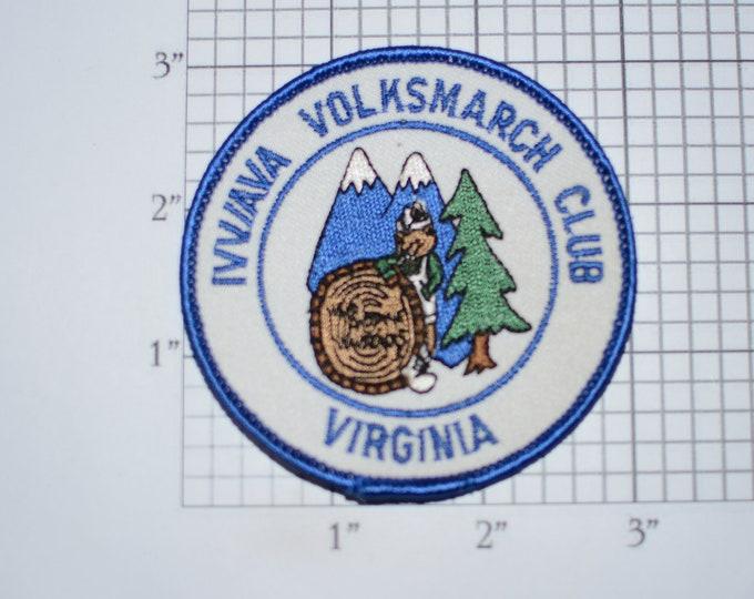 Volksmarch Club Virginia American Volkssport Association Sew-On Embroidered Clothing Patch Keepsake Emblem
