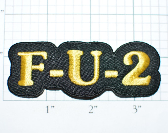 F U 2, Vintage Patch Iron-on Patch Jeans Patch Jacket Patch Backpack Patch Applique Embroidered Patch Funny Patch Cute e32b