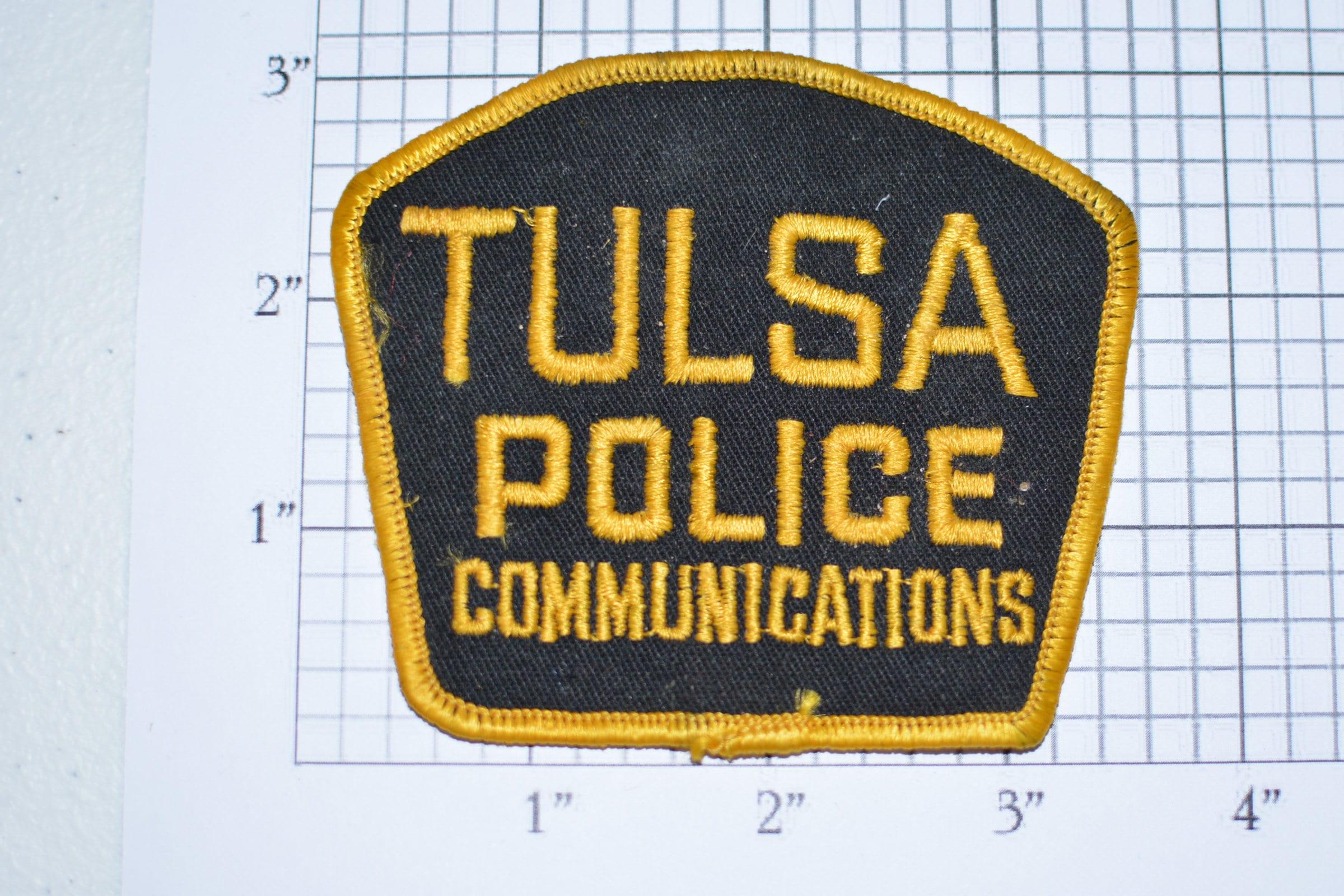 Tulsa Oklahoma Police Communications Very Rare Sew On Vintage