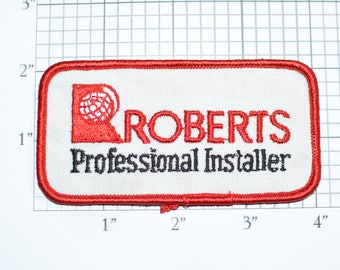 Roberts Professional Installer Iron-on Vintage Embroidered Uniform Patch Jacket Shirt Vest Employee Contractor Carpet Wood Flooring e31d