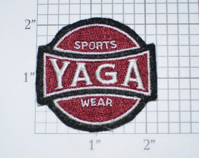 YAGA Sports Wear RARE Vintage Embroidered Clothing Patch for Uniform Jacket Work Shirt Vest Emblem Insignia Collectible Advertising Logo