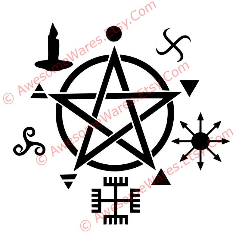 Wicca Symbols Instant Download Cut File Svg Pdf Png Dxf Witchcraft Pagan  Pentacle Pentagram Star Magic Occult Arcane Witch Cricut Silhouette