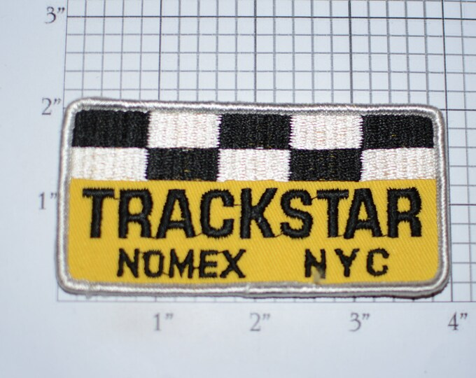 Trackstar Nomex NYC Sew-on Vintage Embroidered Clothing Patch for Jacket Shirt Vest Logo Emblem Insignia Collectible Badge Racing Gear