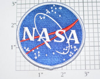 NASA Iron-on Embroidered Clothing Patch for Jacket Vest Shirt Hat Backpack Costume Cosplay Space Agency Aerospace Collectible Astronaut