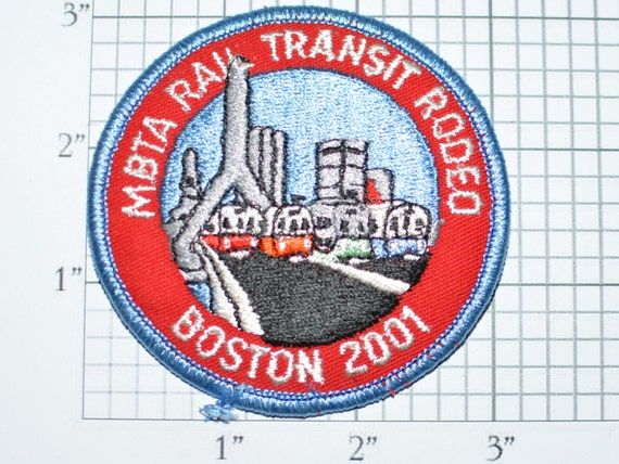 Transportation S1 On Commuter Collectible Patch Rodeo Train Transit Boston Embroidered Mbta 2001 Clothing Iron Souvenir Rail Massachusetts WD29HIE