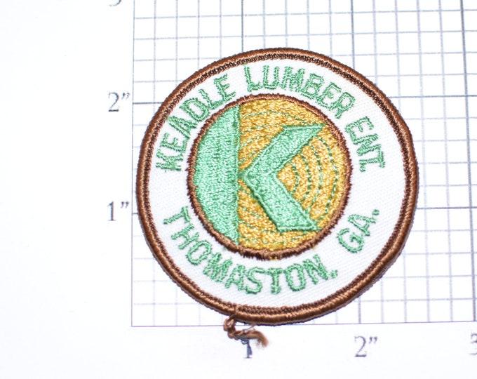 Keadle Lumber (Thomaston Georgia) Vintage Iron-On Embroidered Clothing Patch for Employee Uniform Work Shirt Collectible Keepsake Emblem