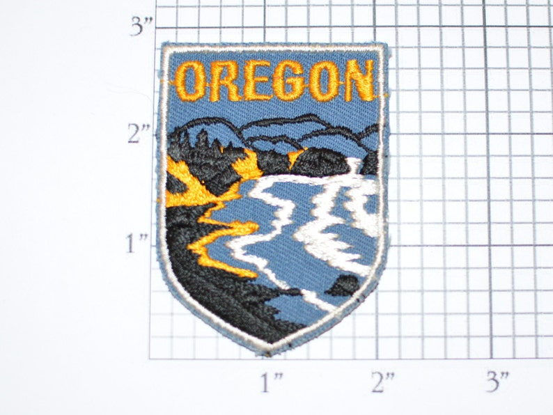 Vintage Oregon Patch Lumberjack Sew on
