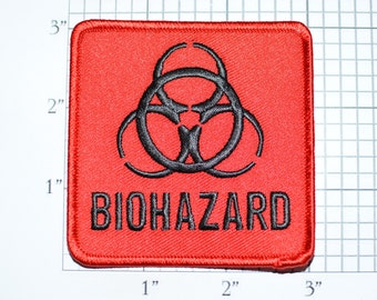 Biohazard Iron-on Embroidered Clothing Patch for Biker Jacket Vest Shirt Backpack Zombie Apocalypse Gamer Videogame Gift Idea Cosplay