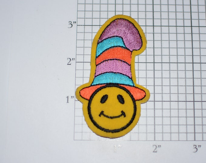 Cute Character in Colorful Top Hat Iron-on Vintage Embroidered Clothing Patch Applique Adorable DIY Clothes Fashion Logo Accent Fun Craft