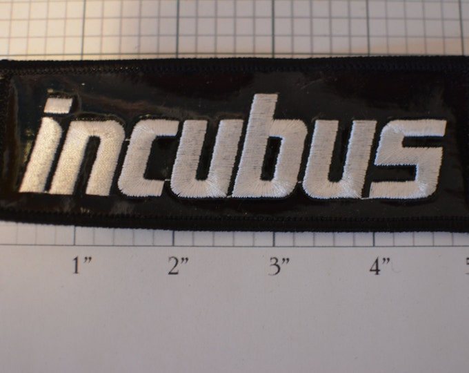INCUBUS Glossy Finish Licensed Sew-On Patch Rock Band Souvenir Merchandise Collectible Jacket Patch Backpack Patch Music Gift Idea e3