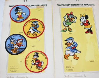 Walt Disney Embroidered Authentic 1970's Licensed Vintage Patches by Streamline Mickey Mouse Minnie Daisy Duck - Only a Few Left