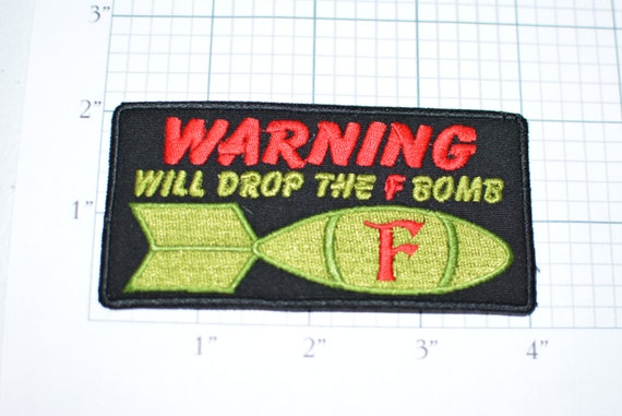 Orange Warning Caution Sign Embroidery Applique Patch