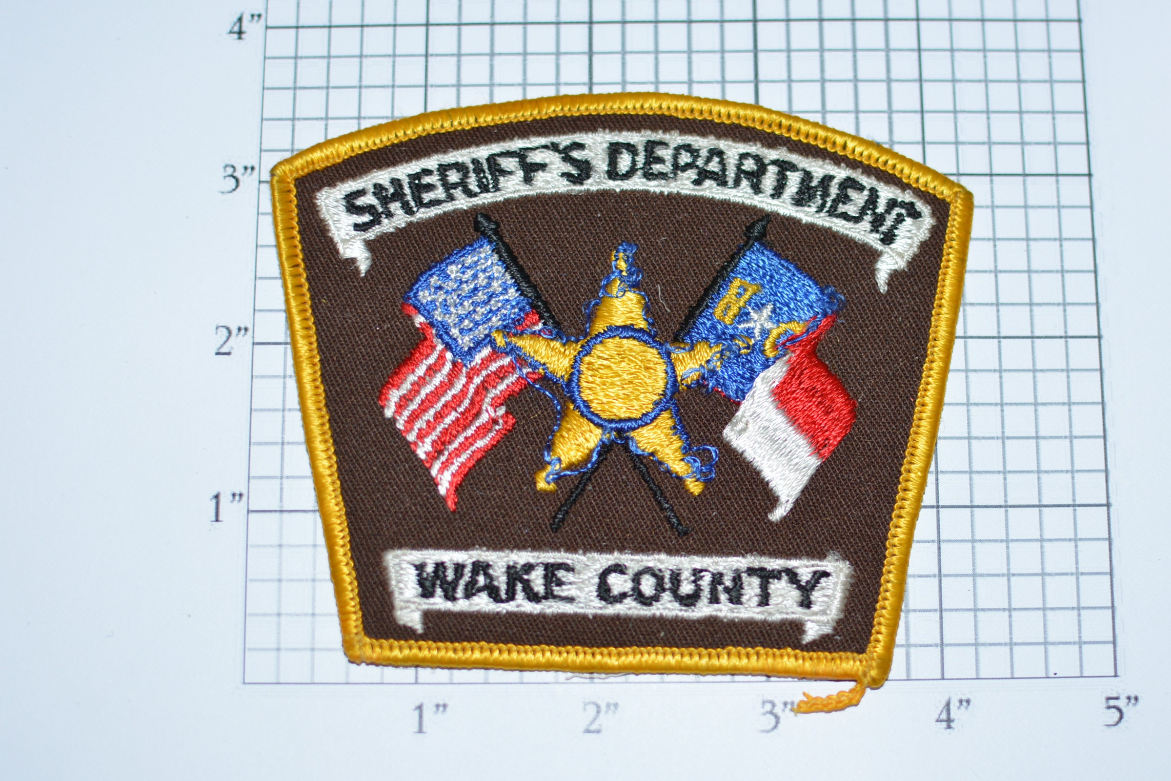 Sheriff's Dept Wake County N C  Sew-on Embroidered Patch