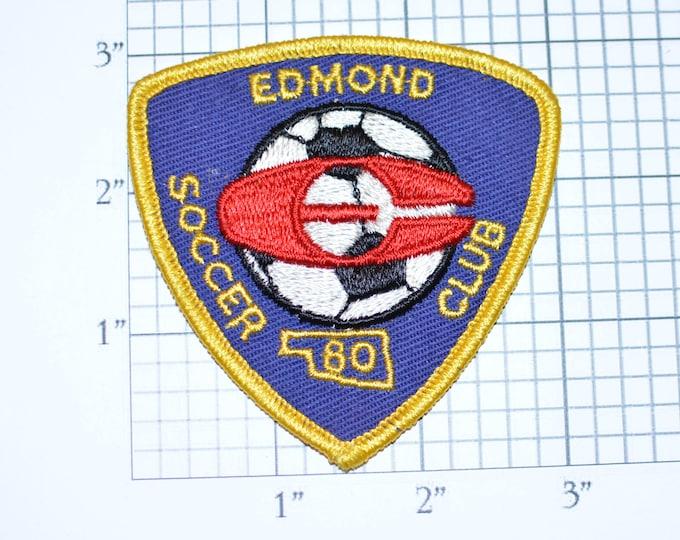 Edmond Oklahoma Soccer Club 1980 Vintage Sew-on Embroidered Clothing Patch Sports Jacket Vest Jersey Shirt Hat Logo Emblem Insignia Keepsake