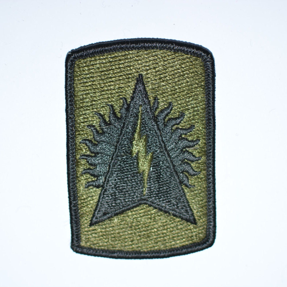 Army 164th Air Defense Artillery, Subdued Iron-On Vintage