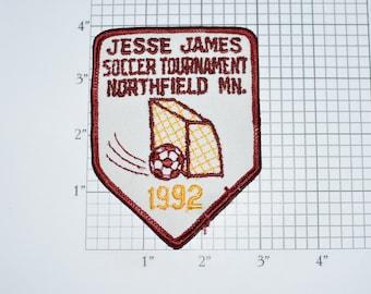 Jesse James Soccer Tournament Northfield Minnesota MN 1992 Iron-on Embroidered Clothing Patch Sports Jacket Vest Jersey Shirt Hat Logo e32n