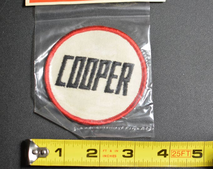 1960's Dal-Emblem Licensed Vintage Cooper Automobile Swiss Embroidered Patch Sew-on Applique Sports Car Emblems Collectible Insignia t1