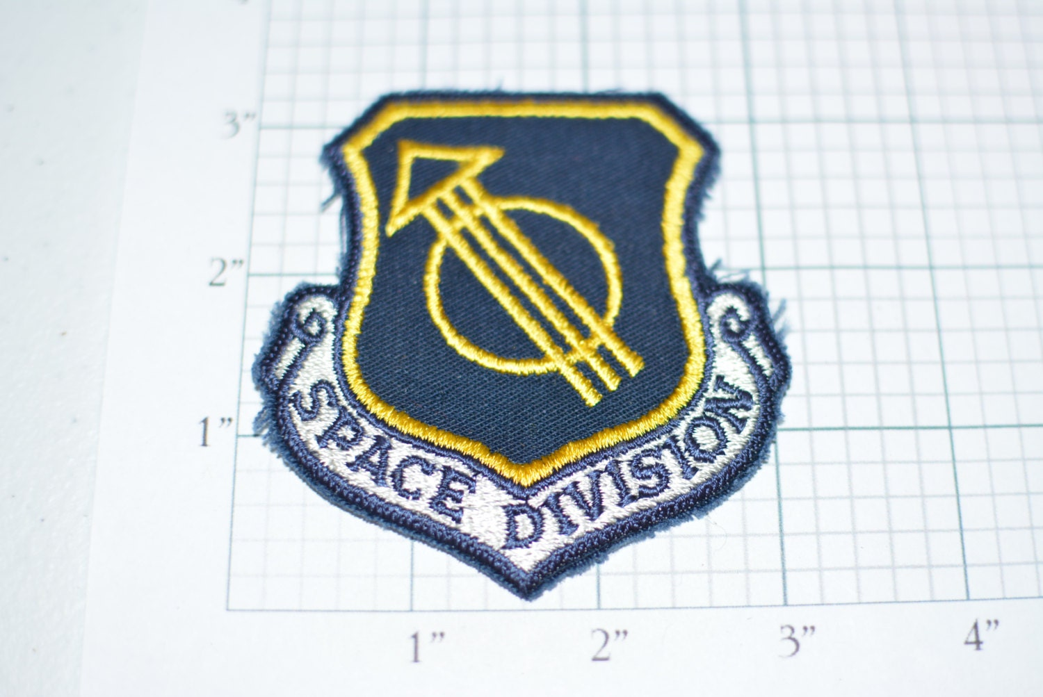USAF SPACE Division Rare Iron-On Vintage Embroidered