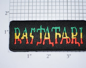 Rastafari Text Iron-on Embroidered Clothing Patch for Jacket Vest Jeans Shirt Backpack DIY Clothes Jamaican Religion Social Movement Rasta