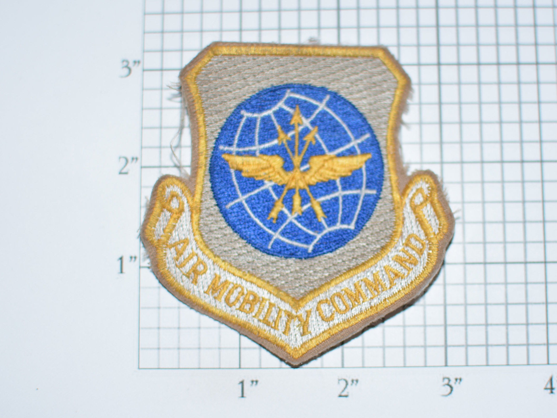 USAF Air Mobility Command Sew On Vintage Embroidered Clothing Patch Military Militaria Gift Collectible Force Scott AFB Illinois E33g