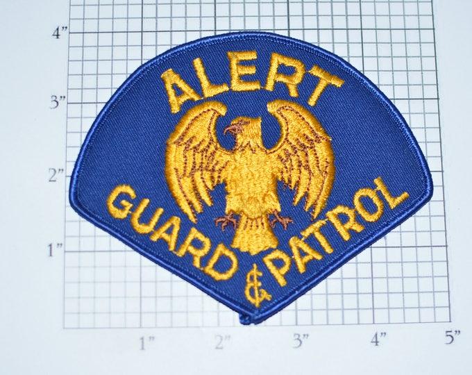 Alert Guard & Patrol Eagle Iron-On Vintage Embroidered Uniform Shoulder Patch Jacket Vest Shirt Costume Cosplay Home Security Bodyguard e31a