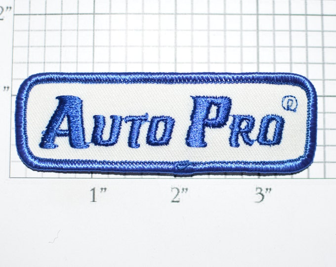 Auto Pro Iron-On Embroidered Clothing Patch for Uniform Shirt Vest Jacket Mechanic Automotive Service Garage Car Guy Automobile Cosplay f1