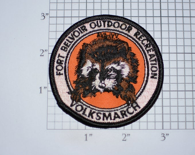 Fort Belvoir (Virginia) Outdoor Recreation Volksmarch AVA-IVV American Volkssport Association Sew-On Embroidered Vintage Clothing Patch Logo