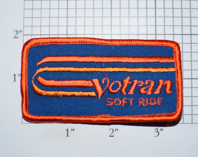 Voltran Soft Ride Vintage Embroidered Iron-on Clothing Patch for Employee Uniform Work Shirt Jacket Garage Auto Truck Mechanic Shop Tech