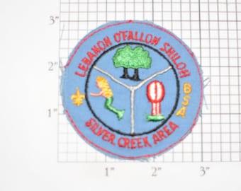 Lebanon O'Fallon Shiloh Silver Creek Area BSA Iron-On Vintage Embroidered Clothing Patch (No Border) Boy Scout Collectible Memento Keepsake