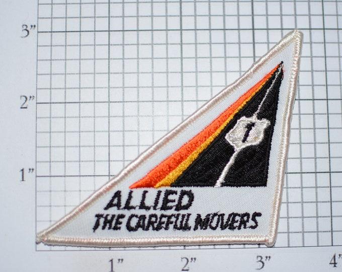 Allied The Careful Movers U.S. 1 Vintage Iron-on Embroidered Patch for Uniform Shirt Jacket Vest Emblem OTR Trucking Transportation Driver