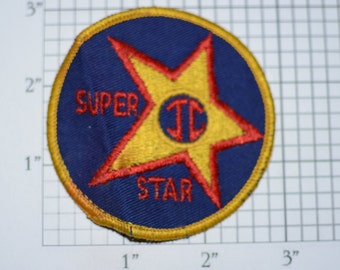 Jesus Christ Super Star (JC) Sew-On Vintage Patch (Some Staining) Very Rare Embroidered Clothing Patch for Jacket Vest Backpack Jeans Hat