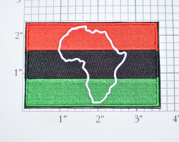 Pan African Iron-on Embroidered Clothing Patch Black Liberation UNIA Africa Pride for Shirt Jeans Jacket Vest Backpack Memento Souvenir vb1a