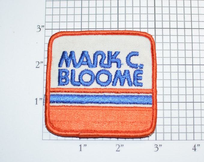 Mark C Bloome Sew-On Vintage Embroidered Clothing Patch for Uniform Shirt Jacket Hat Emblem Logo Insignia California Tire Store Gas Stations
