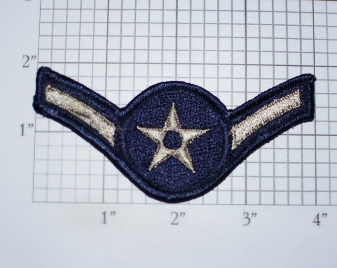 Airman Rank Insignia E-2 Vintage Sew-on Uniform Patch Emblem Logo Military Jacket Vest Shirt Collectible Memento Badge *Only 1 available