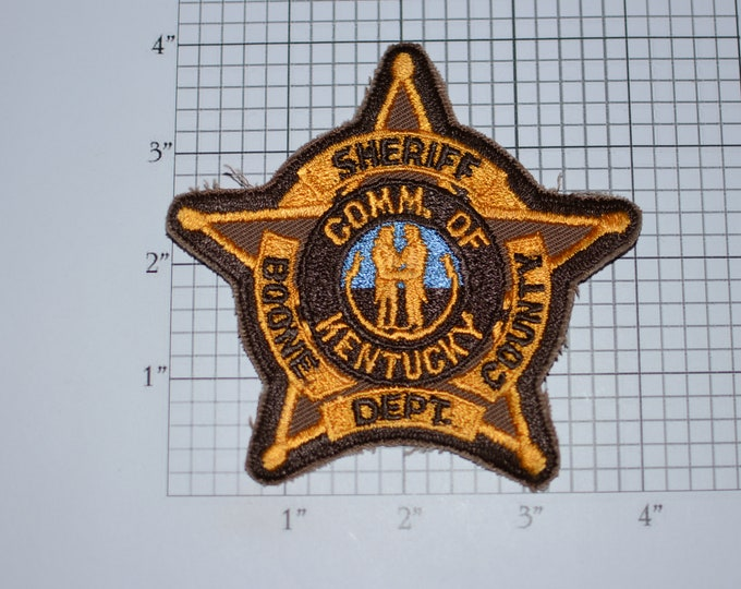 Boone County Commonwealth of Kentucky KY Sheriff Iron-On Vintage Embroidered Clothing Patch Uniform Shoulder Jacket Vest Costume Cosplay