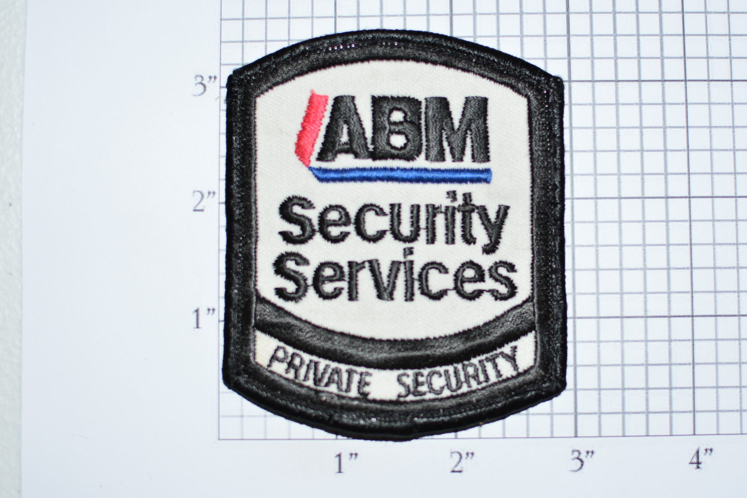 Abm Private Security Services Guard Sew On Vintage Embroidered