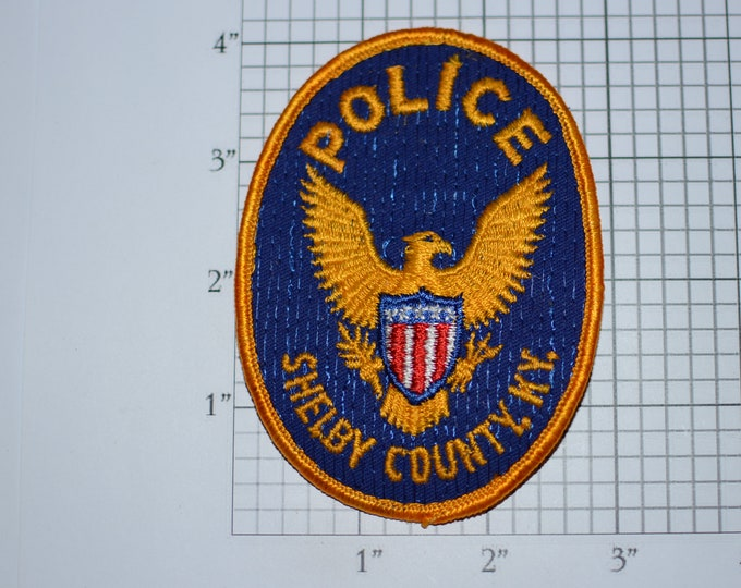 Shelby County Kentucky KY Police Sew-On Vintage Embroidered Clothing Patch Uniform Shoulder Jacket Vest Costume Cosplay Collectible Keepsake