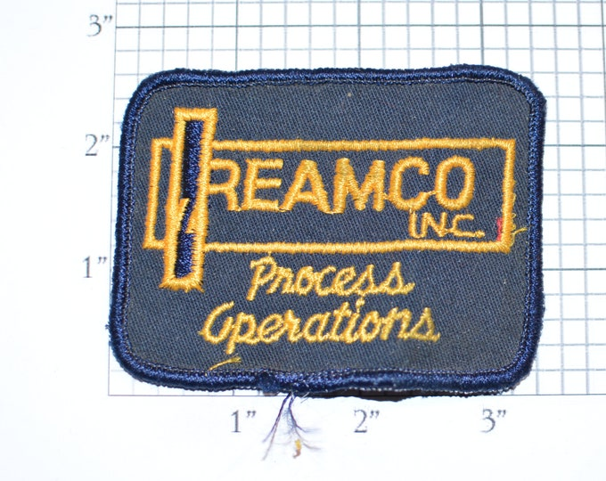 Reamco Process Operations Sew-On Vintage Embroidered Clothing Patch for Employee Uniform Shirt Jacket Emblem Logo Collectible Crest