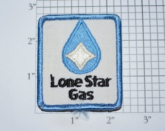 Lone Star Gas (Texas) Vintage Iron-on Embroidered Clothing Patch for Employee Uniform Shirt Jacket Vest Insignia Logo Emblem Meter Reader