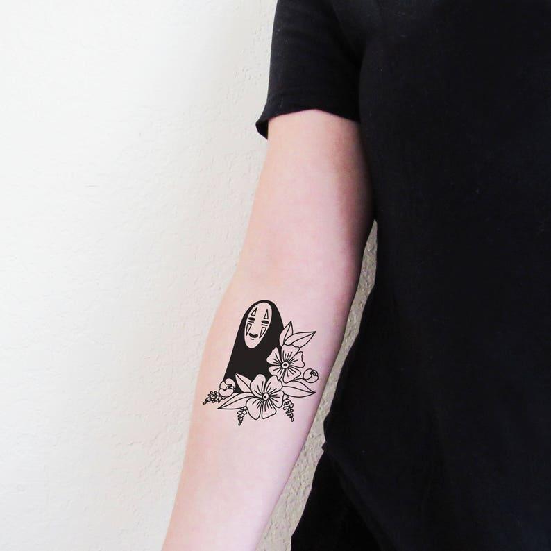 No Face Temporary Tattoo Spirited Away Art  ad38138d8510