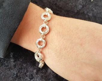 Mobius Chain Bracelet and Earrings - Matching Set