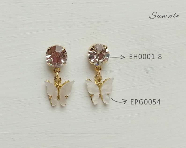 10 mm Royal 2 PCS Acrylic Pearl Butterfly Pendant EPG0054-RO Cellulose Acetate Pendant Plastic Color Earring Butterfly Charm